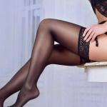 Черные чулки: актуальные варианты и роскошные женские образы на фото