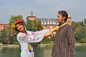 украинка с иностранцем